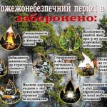 Що у пожежонебезпечний період у лісі заборонено